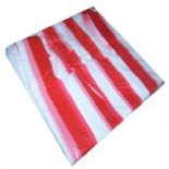 Red/White Candy Stripe Vest Carrier Bags Small 11x17x21